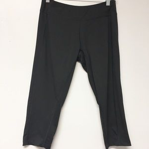 Adidas Black Compression Capri Workout Pants